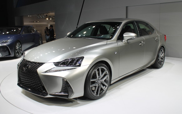 "<p>Lexus was there to introduce its refreshed IS sedan, with a ""daring new style direction"" that's sure to get attention. It has a larger grille and sharper lines for a more aggressive look.</p>"