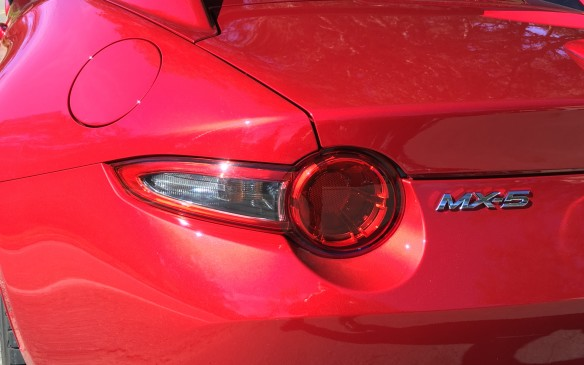 <p>Fuel consumption ratings for the MX-5 RF with the manual gearbox are 8.9 litres/100 km in city driving and 7.1 on the highway. When fitted with the automatic transmission, the fuel consumption is 9.0 city and 6.7 highway. Premium-grade fuel is recommended. Pricing for the MX-5 RF starts at $38,800 for the base GS model. A Sport package ($4,400) is available for the GS (manual transmission only), which adds Brembo front brakes, red calipers front and rear, 17-inch, dark-finished BBS forged alloy wheels and heated Recaro sport seats with Nappa leather and Alcantara trim. Move up to the GT model and the pricing starts at $42,200.</p>
