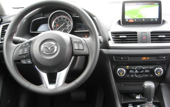 2014 Mazda3 - steering wheel and instrument panel