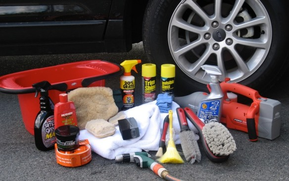 <p>Plan ahead. You will need plenty of water, a wash cloth or sponge, soap formulated for washing vehicles - not dish or laundry detergent, glass cleaner, brushes for wheels and instrument panel, soft towels for drying and a vacuum cleaner.</p>