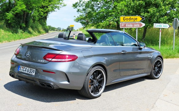 <p>The steering, suspension and brakes are significant upgrades on the AMG models, which exhibited near sports-car-like prowess on the twisty and narrow roads on our test-drive route through the Dolomites, frequently crossing the border between Italy and Slovenia.. The bark and bellow of the AMG C63 S exhaust bouncing from the ancient walls provided a memory to be cherished</p>