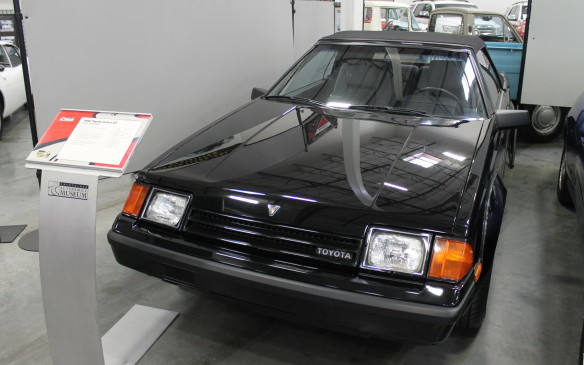 <p>This 1982 Celica GT is Serial Number 1 of the first-generation convertible. It was sold with a new Autosound stereo and cassette system that included five speakers – an industry first.</p>