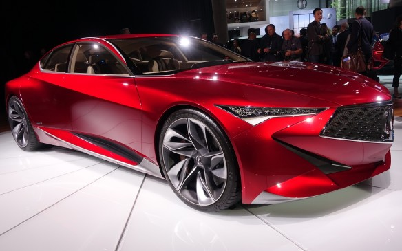 <p>Let's start with something wonderful – with its sharp creases and flowing lines, the gorgeous, metallic ruby red Precision Concept, sculpted in Acura's California studio and first shown in Detroit last January, prefigures the styling of the prestige brand's upcoming models.</p>