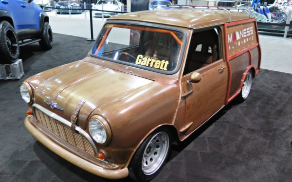 <p>This original Mini is fitted with a Honda S2000 engine.</p>