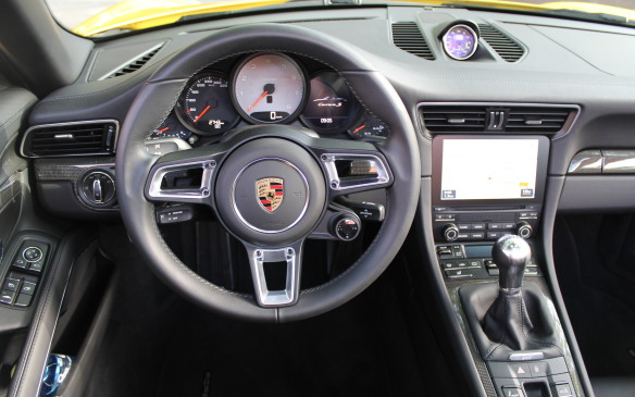 <p>The best part of the car is the driving, though. The steering wheel in this generation is based on the wheel in the 918 Spyder, and the optional sport wheel is slightly smaller: 360 millimetres diameter instead of 375 mm.</p>