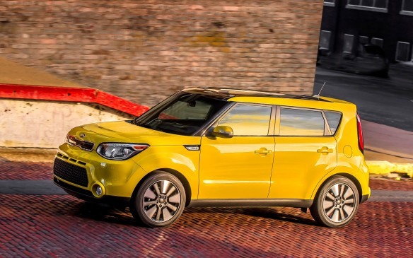 <p><strong>2015 Kia Soul EX</strong></p> <p>The 2015 Kia Soul is a great combination of stylish runabout and cargo-hauling hatchback. Its construction and materials feel expensive and, with its wide array of eye-searing exterior colours, you won't lose one in a parking lot. It's on the to-lease rather than buy list because its $16,995 base price is much higher than others. But even the mid-range EX at around $21K, with its 164-horsepower 2.0-litre engine and six-speed automatic transmission, can be made affordable. With no money down, on a 3-year term at 0.9 percent interest, the monthly payment is around $279, with an end value of $13,686.</p>