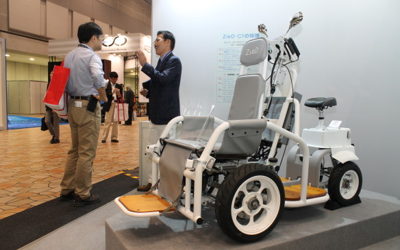 <p>The C1, made by ZieD, is controlled by a driver on the back, with a passenger seated in the chair at the front.</p>