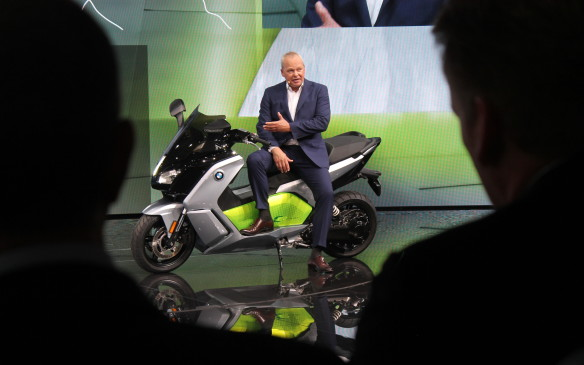 <p>The president of BMW Motorrad, the German maker's motorcycle division, even took the opportunity to debut the new all-electric C2 scooter.</p>