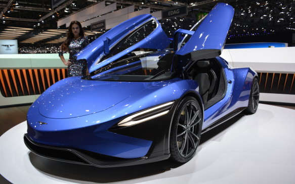 <p>The Chinese-based group called Techrules showed off both AT96 and GT96 supercar concepts in Geneva. The group is at the show primarily to show off its new Turbine-Recharging Electric vehicle technology, simply known by the acronym TREV. It is a range extender system that uses a micro-turbine to generate electricity and charge its 20 kWh battery pack. It's hard to tell the AT96 and GT96 apart visually: the AT96 is more track-focused and can run on aviation-grade kerosene, diesel or gasoline, while the GT96 can use bio-gas or natural gas.</p>
