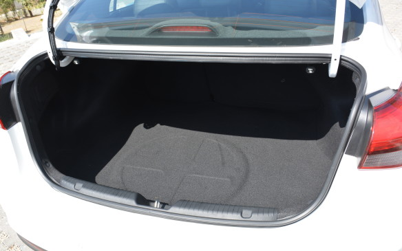 <p>As for cargo space, there's 421 litres to work with, so feel free to pack a few large suitcases for a long road trip.</p>