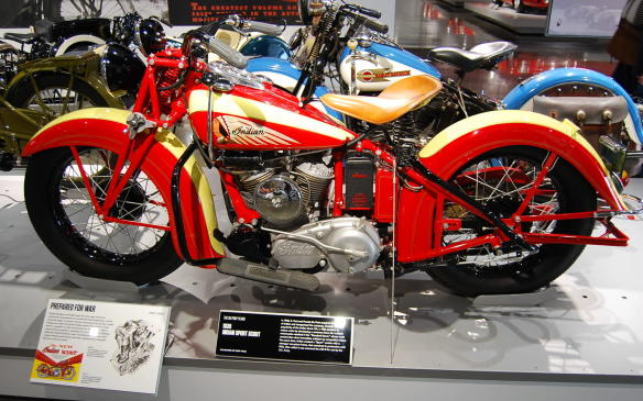 """<p>E. Paul and Francis Du Pont had acquired large shares of Indian in early 1930, and in their reorganization of the company they wanted to reduce costs. The """"Standard Scout"""" was born, manufactured on a common frame that could be used for multiple motorcycles in the Indian lineup. By 1932, the weak construction of the frame drew immediate criticism by competitive riders, and sales diminished.</p> <p>Not long after, Indian created a """"Sport"""" version with a stronger two-piece frame, which remained in production until 1942, when the U.S. Army purchased it and renamed it the 640-B.</p>"""