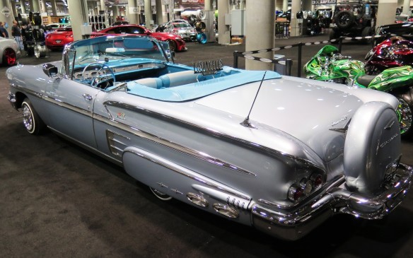 <p>The low riders also receive extensive attention to detail inside and under the hood with incredibly intricate work on everything from paint to trim and, of course, lot of chrome and often, wire wheels.</p>