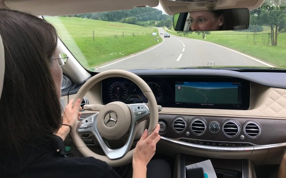 <p>Out on the public roads, another test driver showed us how the car will steer and brake itself on a curving highway. It will even change lanes automatically on a four-lane highway with just the press of the indicator stalk, provided the lane alongside is clear.</p>