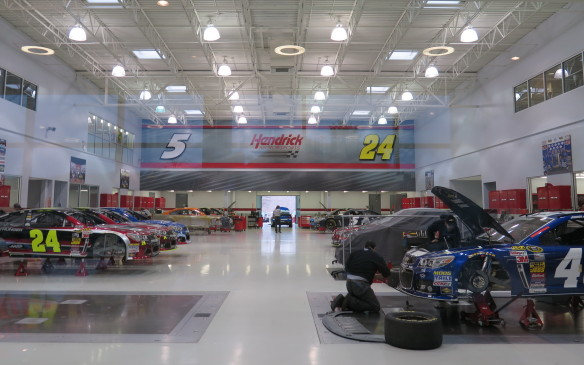 <p>Visitors are welcome at Hendrick Motorsport. The four teams are housed in two separate buildings, each with a museum, array of trophies and viewing area. Here you can watch the teams working on vehicles being prepared for the next and subsequent races, different vehicles for each type of track from road courses to short ovals like Martinsville to the big ones like Talladega.   </p>