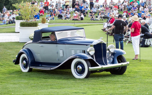 <p>There was a class of its own for Classic Packards, which included this1932 Packard 900 Light-Eight 'Shovel-Nose' Roadster.</p>