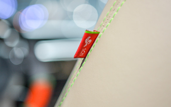 <p>Customized seat airbag tags shows just how much attention to detail West Coast Customs and Lexus paid to this creation.</p>