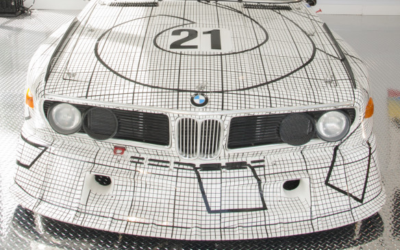 <p>Stella's artwork evolved from conventional expressions of objects and things to making the painting itself the object of attention. His fondness for blacks and whites and geometric forms is clearly evident in his BMW Art Car.</p>