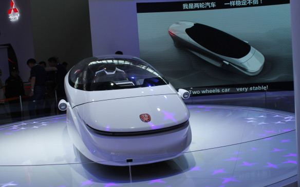<p>Perhaps wildest of all was the self-stabilizing, two-wheeled car from Lingyun Technology. This is very much still a concept.</p>