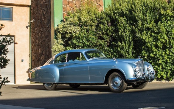 <p>From the post-war era, this classically-beautiful 1954 Bentley R-Type Continental Fastback Sports Saloon by H.J. Mulliner sold for $1,870,000 (USD).</p>