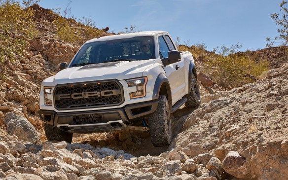 <p>Under its aluminium skin, the new Raptor rides on the strongest, fully-boxed frame in the entire F-150 family. It's made with more high-strength steel than its predecessor to better resist twisting and flexing over extreme terrain, but also to provide strong attachment points for its advanced suspension. The end result is better handling and ride, no matter how badly broken the road, or trail surface. At all times, the Raptor remains impressively stable and composed.</p>