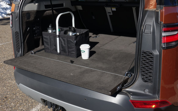 <p>And when the panel lies flat over the rear bumper, it's tailgate party time, indeed. Land Rover says the carpet-finished panel itself is strong enough to hold a maximum load of 300 kg. Good for three fully-grown adults, unless a couple of them are NFL defense line players. The panel is power-operated with the electronic key fob or buttons in the cargo bay.</p>