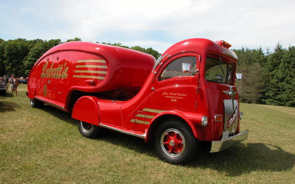 <p>There was even a display of classic trucks, ranging from a Good Humor ice cream truck to a full-size Esso fuel tanker and the Labatt Streamliner.</p>
