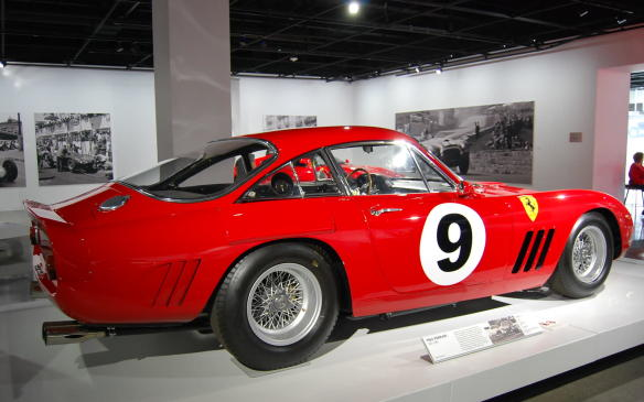 <p>A Scuderia Ferrari factory race car, this LMB became the first car to break 300 km/h (186 mph) on the Mulsanne Straight, once an uninterrupted 5.9-km (3.7-mile) straightaway at Le Mans.</p>