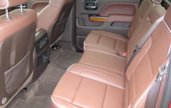 2014 Chevrolet Silverado - Crew Cab rear seats