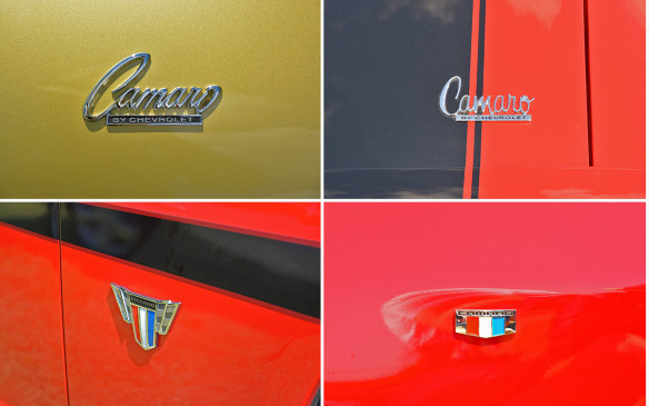 <p>Unlike some of its rivals, past Camaro badging has often been subtle, unassuming even. The 2016 Camaro stays this course on the exterior with just a small badge on each of the two front quarter panels of the car. 2016 also sees a return to the red, white and blue tribar Camaro badge, which has adorned nearly every Camaro except for much of the 2010-15 5th-gen vehicle line.</p>