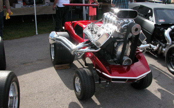 <p>Chuck Miller of Styline Customs, who created full-size versions of the outrageous 1970s toy Zingers showed this Corvette variant. In addition, there were live bands to entertain show-goers, a DJ piping golden oldies throughout the property and plenty of vendors with all kinds of accessories, memorabilia and whatever to tempt your budget</p>