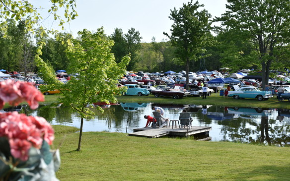 <p>The Fleetwood Country Cruize-in – acknowledged as the largest outdoor auto extravaganza in Canada and perhaps North America – is organized by car-collector Steve Plunkett and held on the park-like grounds of his estate near London, Ontario.</p>