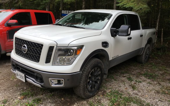 <p>The 2017 Nissan Titan PRO-4X Crew Cab ($63,050 as tested) was the newly introduced gasoline-fueled model, featuring a 5.6-litre V-8 coupled to a seven-speed automatic transmission and four-wheel drive. The Titan was extremely quiet and comfortable – and it was so impressive while driving without a load that it scored 8.0 points, just a tenth of a point behind the Ram. Other bonus features included a handy, well-crafted tiedown system and removable storage boxes in the pickup bed. The Titan placed third in the ½-ton segment, earning a total score of 74.3%.</p>
