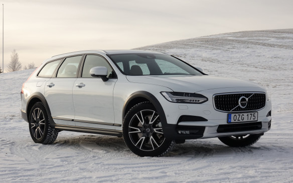 <p>The new V90 Cross Country sits 6.5 cm higher than the recently-introduced V90 wagon for a total 21 cm of ground clearance. That's less than the regular XC90's 23.8 cm but clearly enough to tackle bad cottage roads and mildly rough trails. Volvo's chassis engineers have either modified or replaced every suspension component from the V90 while fine-tuning the Cross Country's on- and off-road handling. The XC90's height-adjustable air suspension is not available but you can get a V90 Cross Country with load-levelling air springs for its rear axle, combined with adjustable damping from the Four-C suspension's shock absorbers.</p>