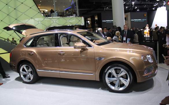 <p>Not to be outdone, and also cashing in on crossover popularity, Bentley pulled the wraps off its ultra-luxury Bentayga. There's no Canadian price announced yet, but it'll be expensive.</p>