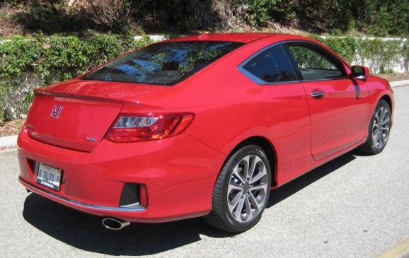 2013 Honda Accord Coupe - rear 3/4 view