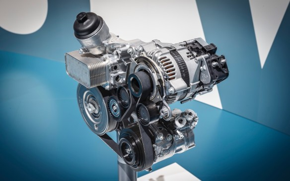 <p>A four-cylinder engine with a belt-driven starter/generator, using existing alternator mounts, will also come along in 2017. These and all future Mercedes gasoline engines will be equipped with particulate filters, an industry first. Mercedes has completed more than two years of practical experience/tests with this technology in the S500. The first production vehicles with the filters will be the updated versions of the S-Class appearing in 2017.</p>