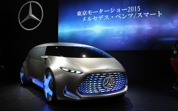 <p>At the Tokyo show, Mercedes introduced another autonomous car – this one a bit more like a van.</p>