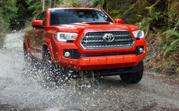 <p>Strengthened and restyled for 2016, Toyota's mid-size Tacoma is available in various combinations of two or four-door, models – both with rear seats – rear- or all-wheel-drive, and 2.7-litre four-cylinder or 3.5-litre V-6 engines.</p>