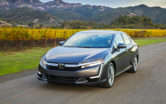 <p>In total, there are three versions of the Honda Clarity: plug-in hybrid, pure electric and hydrogen fuel cell. The plug-in is the first one to come to Canada as, according to Honda Canada, it has the greatest potential to meet current consumer needs.</p> <p>The pure electric version is being sold throughout the United States, while the fuel cell model, with 590 kilometres of range, which can be refueled in three-to-five minutes, is only available in the state of California.</p>