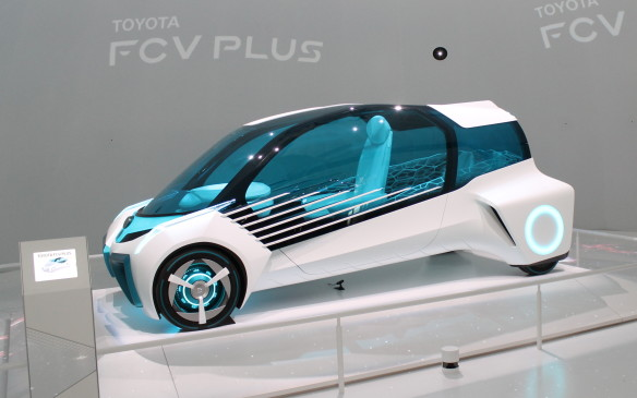 <p>Toyota also showed the FCV Plus, a hydrogen-powered fuel cell car that's designed to act as a portable generator to power your home if needed.</p>