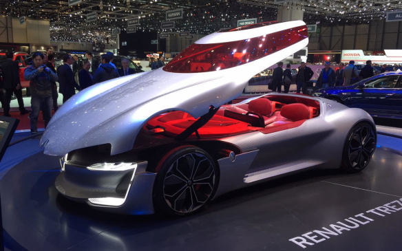 <p>Also from Renault, but tipping the cale towards the bizarre, the Trezor is a two-seater electric GT concept car that boasts a single-piece, canopy-style door spanning the width of the car and stretching from the nose to the rear bulkhead. A ghost of concept cars of the 1950s?</p>