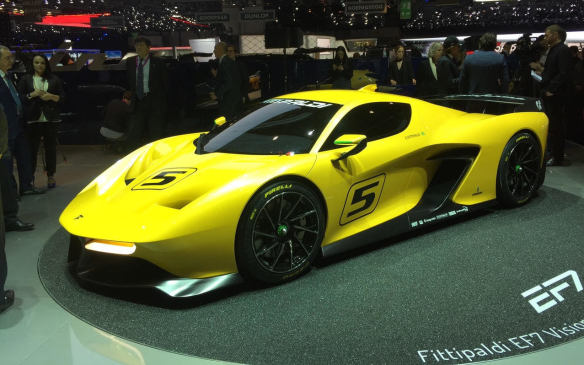 <p>The 600-hp Pininfarina Fittipaldi EF7 is a naturally-aspirated V-8-powered track car, launched in partnership with twice-F1 champion Emerson Fittipaldi and the famous Italian design house, now owned by India's Mahindra Group.</p>