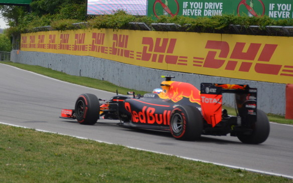<p>Among the most colourful cars on the track were the Renault-powered Red Bulls and their sister Toro Rossos, which shared similar paint schemes.</p>