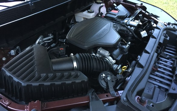 <p>The available engine lineup for the 2017 Acadia features two new engines, both paired with six-speed Hydra-Matic automatic transmissions. The base unit is a 2.5-litre naturally aspirated four-cylinder with direct injection and variable valve timing, generating 193 horsepower at 6,600 rpm and 188 lb-ft of torque at 4,400 revs. For buyers whose priority is fuel efficiency, this is their engine of choice. It's more efficient than the previous Acadia four-cylinder, with a 16% reduction in internal friction, and features stop/start technology to further reduce fuel consumption. It's also more powerful, thanks to a longer stroke that improves torque output. GM engineers have also reduced noise and vibration levels 40%, compared to the previous engine, resulting in a quieter, smoother running, more refined powerplant. Its fuel consumption ratings, with front-wheel drive, are 11.0 L/100 km in city driving, 9.2 on the highway and 10.2 combined. </p>