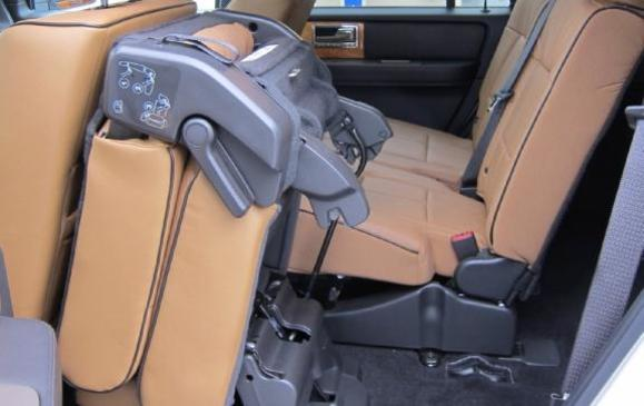 2012 Lincoln Navigator - second row seat flipped/folded