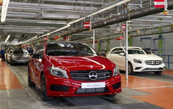2013 Mercedes-Benz A-Class begins production in Rastatt
