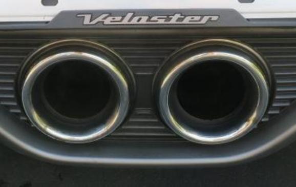 2013 Hyundai Veloster Turbo - detail tailpipes