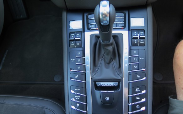 <p><strong>Switches galore</strong></p> <p>The wide centre console is laced with two dozen switches, bucking the current trend toward eliminating them. The centre console lies beneath a bright LCD touchscreen, with another in the right-side of the instrument cluster. There are deep pockets for bottles in the front doors. And more room in the centre console than in many competitors.</p>
