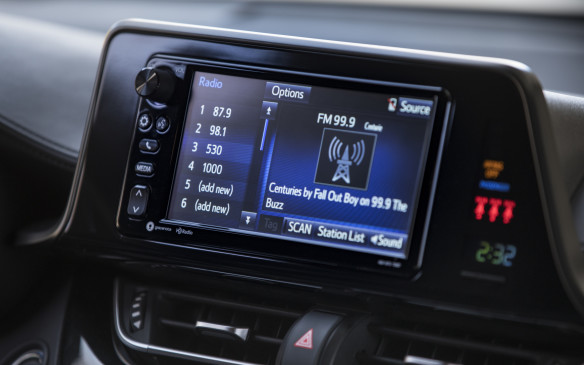 <p>There's also no Apple CarPlay or Android Auto available. You can plug in your smartphone and stream music through AHA and other apps, but you cannot see your phone's screen or use its apps through the 7-inch display screen.</p>