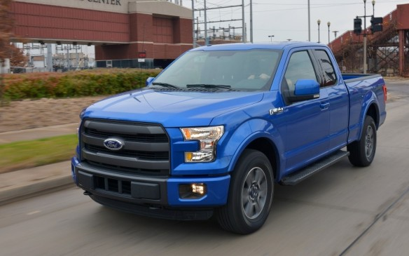 <p>With 118,837 trucks sold in 2015, the new aluminum-bodied F-Series' number-one position wasn't under any pressure, but its sales were down by 5.9% from 2014, making it the only pickup in the top ten to suffer a sales decline.</p>